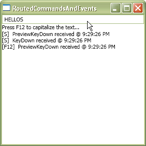Evidence of routed commands trapping routed events.