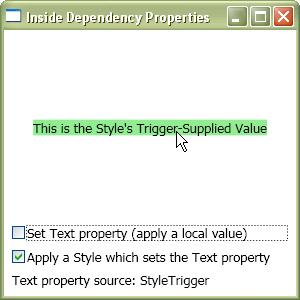 Trigger-suppliedvalue