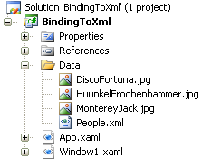 Binding to XML(project)