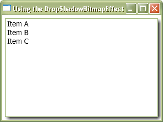 Lightweight DropShadows (using DropShadowBitmapEffect)