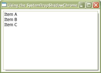 Lightweight DropShadows (usignSystemDropShadowChrome)