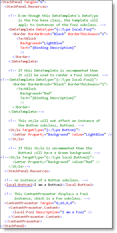Templates Styles and Polymorphism (XAML)