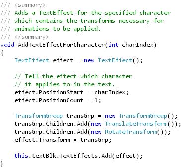 Animating Text (adding aTextEffect)