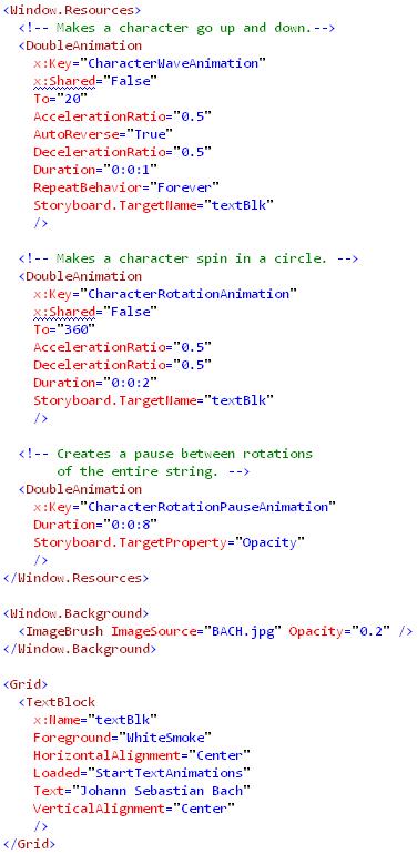 Animating Text(xaml)