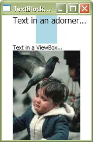TextBlockAdorner Demo(screenshot)