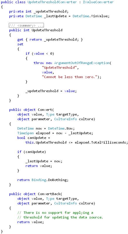 Update Threshold Converter(implementation)