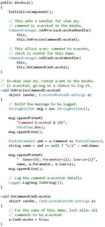 Command Logging (code)