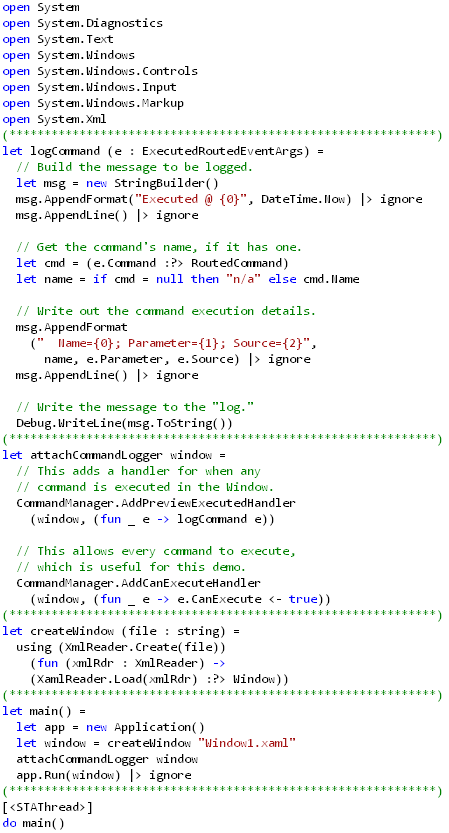 Command Logging in F# (code)