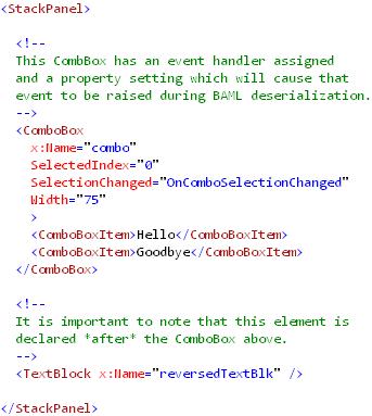EventHandlersInXAML(markup)