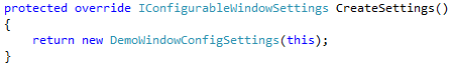 Configurable Window (step 2)