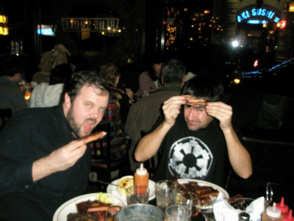 Josh and sacha eating ribs at bluesmoke josh smith on wpf for Bulltoro watches