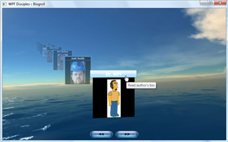 WPF Disciples 3D Blogroll (Screenshot)