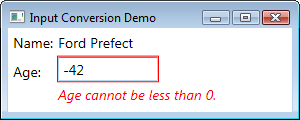 Invalid Age message coming from Person object
